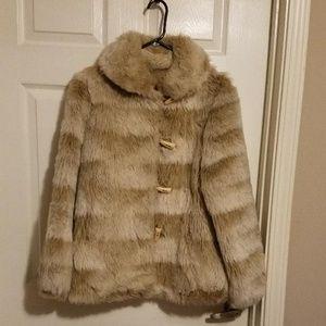 sears faux fur jacket
